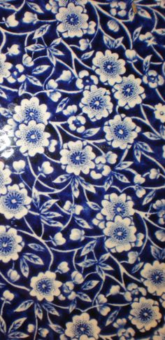 Blue and white china detail