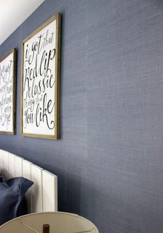 Blue+grasscloth+wallpaper+from+Walls+Republic