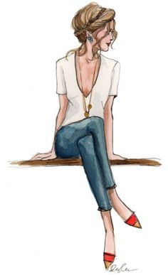 fashion illustration... love this one!!!