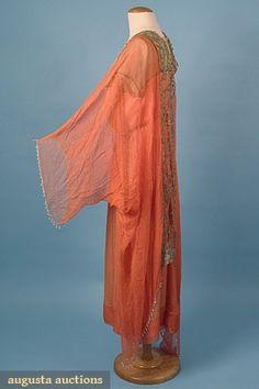 Party Dress w/ Caftan (image 2)   House of Worth   France; Paris   1918   silk chiffon   Augusta Auctions   March-April 2005/Lot 650