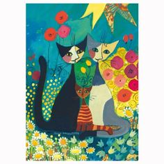 Heye - Puzzle 1000 pièces Rosina Wachtmeister : Flowerbed - Rue des Puzzles