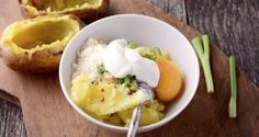 Baked potato with creamy filling_