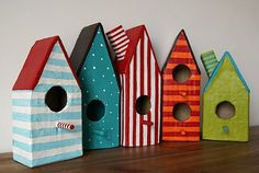 Bird houses. The kids could help me make these and they would look totally cute in all of the trees! RXC