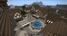 Minecraft medieval town - several pictures Villa Minecraft, Château Minecraft, Architecture Minecraft, Construction Minecraft, Minecraft Survival, Amazing Minecraft, Minecraft Blueprints, Minecraft Crafts, Minecraft Buildings