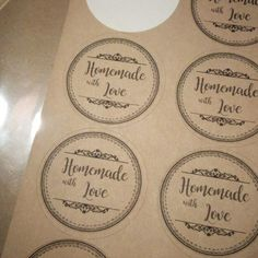 Homemade with Love! A set of gorgeous labels to wrap up your handmade goodies!  http://homesteadoriginals.com/product/infused/
