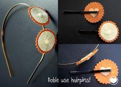 Hairpins&Hairband  Horquillas de doble uso! como diadema o como horquillas, del derecho y del reves!