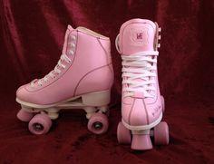 Retro vintage pastel pink roller skates