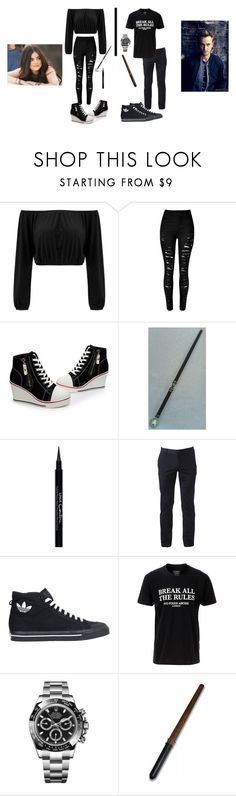 """""""30 Day OC Challenge~ Day 6"""" by slytherinprincess-2 ❤ liked on Polyvore featuring Givenchy, Urban Pipeline, adidas, No Fixed Abode and Rolex"""