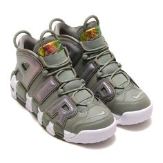 NIKE W AIR MORE UPTEMPO DARK STUCCO/WHITE-BLACK