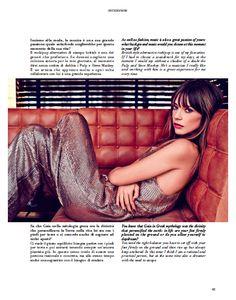 Our interview to: GAIA TRUSSARDI. @Trussardi #trussardi #gaiatrussardi #elegance #modernity #determination #grit #creativedirector #greyhound #woman #fashionshow #celebs