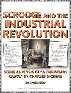 """Industrial Revolution - A Christmas Carol (Scene Analysis) Questions and Key - This 6 page Industrial Revolution resource includes a scene analysis of Charles Dickens """"A Christmas Carol"""" and its relation to the events and themes of the Industrial Revolution. In the resource, students analyze the perspective of the character of Scrooge and the overall story of """"A Christmas Carol"""" through a series of 7 analysis questions."""