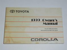 11 best toyota corolla 1999 images on pinterest toyota corolla rh pinterest com 1991 toyota corolla repair manual pdf 91 toyota corolla owners manual