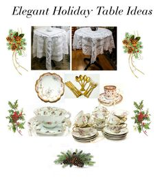 """Elegant Holiday Table Ideas"" by gracesvintagegarden on Polyvore featuring interior, interiors, interior design, home, home decor, interior decorating and Spode"