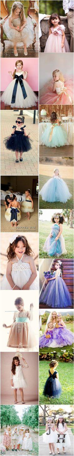 cute flower gild dresses- little girl dresses for wedding / http://www.deerpearlflowers.com/60-sweet-flower-girl-dresses/2/