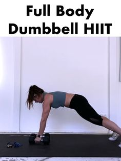 All you need is 25 Minutes & this Dumbbell HIIT to get an efficient full body burn 👉 Complete 3 Rounds of 45 seconds seconds rest. 1 minute rest between rounds 💦 Full Body Hiit Workout, Hitt Workout, Dumbbell Workout, Kettlebell, Fitness Tips, Fitness Motivation, Get In Shape, Workout Videos, At Home Workouts