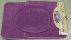 $12.99 3 PIECE BATHROOM RUG, CONTOUR & LID COVER SET - LILAC PURPLE  From Better Home