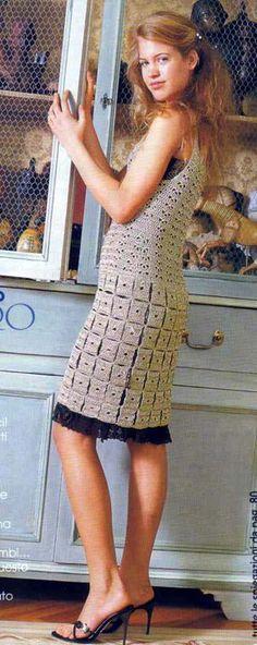 Crochê Tricô: Vestido Bege