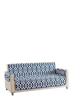 DUCK RIVER Ashmont Home Reversible Waterproof Microfiber Sofa Cover - Navy