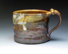 John Glick Plum Tree Pottery Stoneware Mug Hand by MugsMostly