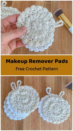 Learn How to Crochet Makeup Remover Face Pads. Reusable Makeup Remover Pads are eco-friendly and waste free. Wash your face or remove your makeup, wash the pad out and reuse again tomorrow. Crochet facial rounds make the perfect quick gift, craft fair product, or accessory to your own skincare routine. These rounds work up quickly and have a gentle texture to help with cleansing. All Free Crochet, Learn To Crochet, Crochet Baby, Makeup Remover Pads, Wash Your Face, Crochet Squares, Skincare Routine, Craft Fairs, Makeup Yourself