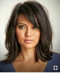 Pin by Lori Wetzel on Hair Hair cuts, Hair styles, Long hair styles hair styles medium cut - Hair Cutting Style Long Shag Haircut, Fringe Haircut, Haircuts For Long Hair, Layered Haircuts, Bob Hairstyles, Straight Hairstyles, Haircut Medium, Choppy Mid Length Hair, Haircuts For Medium Length Hair Layered