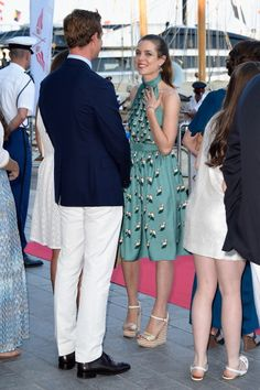 Charlotte, Gad, Princess Alexandra, Pierre, Princess Caroline and Princess Charlene at the Monaco Yacht Club (YCM): Opening In Monte-Carlo