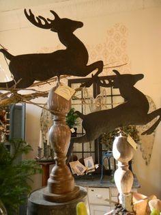 Leaping deer weather vane finial-deer  Christmas