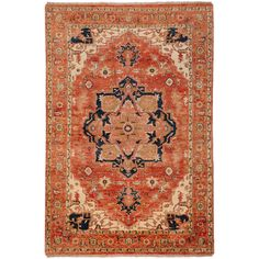 Hand-knotted Adame Rust Wool Rug (2' x 3') - Overstock Shopping - Great Deals on Accent Rugs