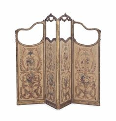 A LOUIS XV STYLE GILTWOOD, GLASS AND TAPESTRY DRAFT SCREEN, LATE 19TH/EARLY 20TH CENTURY