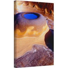 Dean Uhlinger The Last Pool Gallery-Wrapped Canvas, Size: 36 x 48, Brown