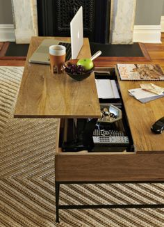 I need this multi-tasking coffee table in my life