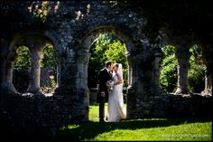 The ruins at Boxgrove Priory are great for some portraits after the wedding ceremony