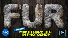 Clever Technique To Create FURRY TEXT In Photoshop! Photoshop Video, Photoshop Text Effects, Free Photoshop, Layer Style, Media Design, Photo Tutorial, Clever, Graphic Design, Create