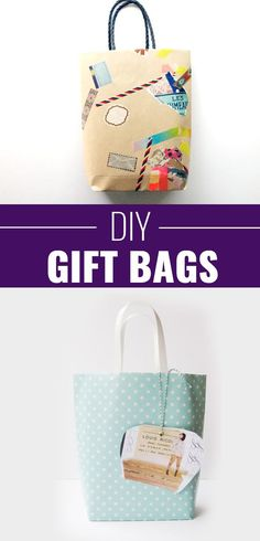 DIY Gift Wrapping Ideas - How To Wrap A Present - Tutorials, Cool Ideas and Instructions | Cute Gift Wrap Ideas for Christmas, Birthdays and Holidays | Tips for Bows and Creative Wrapping Papers |  DIY-Gift-Bags |  http://diyjoy.com/how-to-wrap-a-gift-wrapping-ideas