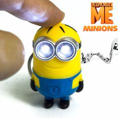 Promotions! Despicable Me Toys LED Minions Keychain Action Figure Toys Yellow Led Talking Minion Toys G0120  http://playertronics.com/product/promotions-despicable-me-toys-led-minions-keychain-action-figure-toys-yellow-led-talking-minion-toys-g0120/