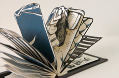 awesome bed book by Etsasketch on etsy - each page is a layer on the bed