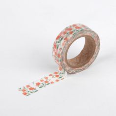 12 rose garden - floral washi tape -flower masking-craft supplies- scrapbooking- card making- weddings-decorative tape- packaging-dailylike by Dailylike on Etsy