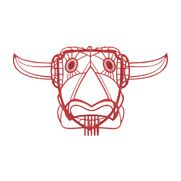 Matt Grote - 3D Printed Longhorn Head Wall Art, Red - Rustic yet modern, this wireframe bull head is the perfect gift for your Western friend. Bring the Southwest into your home with this imaginative and artistic wireframe piece of wall art. See this one-of-a-kind bull's head come to life in any room of your home. The sculpture head features 3D horns that really make your imagination come to life. This amazing piece of wall art will certainly turn heads no matter where you hang it.