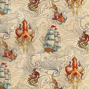 The Seven Seas Vintage - the most amazing fabric for a little boy room/nursery.