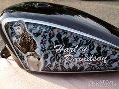☆ Custom Aérographie ☆ - sportster-harley-davidson--de-2001-ink-girls