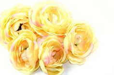 GRAB BAG no. 4  5 Less Than Perfect Silk Ranunculus by simplyserra, $5.00