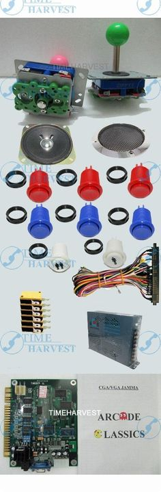 (54.75$)  Buy here  - 1set Arcade parts Bundles kit with 19 in 1 PCB,16A Power Supply,L Joystick,Push button,Microswitch,Harness,Speaker for cabniet