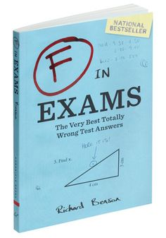 F in Exams, #ModCloth. The book of hilarious epic test fails.