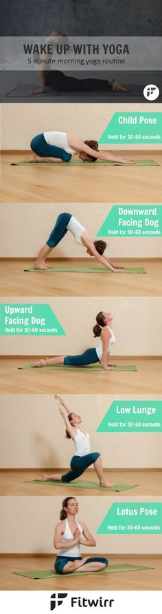 Wake up with Yoga : 5-Minute Morning Yoga Routine. >> Discover more by checking out the photo