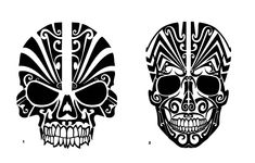 A personal favorite from my Etsy shop https://www.etsy.com/listing/522579102/tribal-skull-car-decal-tribal-skull
