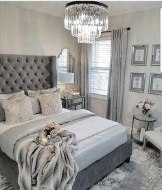 ¿Es gris un buen color para pintar un dormitorio? Bedroom ¿Es gris un buen color para pintar un dormitorio? Grey Bedroom Decor, Glam Bedroom, Stylish Bedroom, Room Ideas Bedroom, Home Bedroom, Bedroom Designs, Bedroom Colors, Grey Bed Room Ideas, Gray Bedroom Furniture