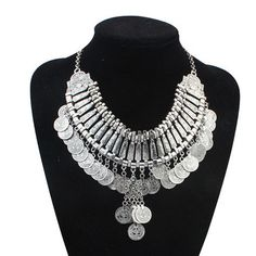 2015 Woman Vintage Gold and Silver Plated Coin Necklace Gypsy Turkish Jewelry Fashion Women Long Colar Turco Joias Wholesale