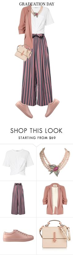 """graduation"" by live-ska ❤ liked on Polyvore featuring T By Alexander Wang, Philippe Ferrandis, Tome, River Island, GUESS, Kendall + Kylie and Graduation"