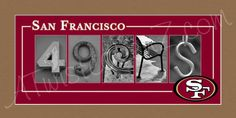 San Francisco 49ers Football Alphabet Photo by AlphabetphotosbyMP, $30.00