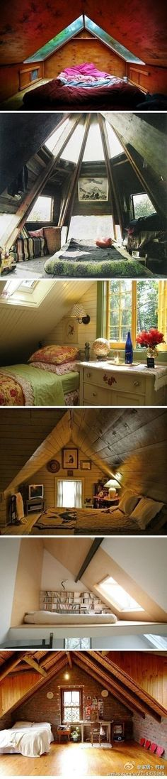 I love attic spaces... especially with the big windows!